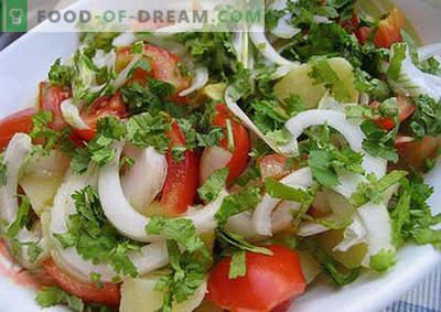 Zomersalade - de beste recepten. Hoe goed en smakelijk een zomerse salade bereiden.
