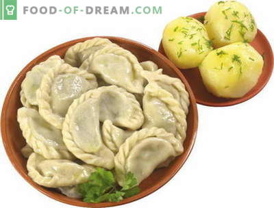 Dumplings with potatoes - the best recipes. How to properly and tasty cook dumplings with potatoes.