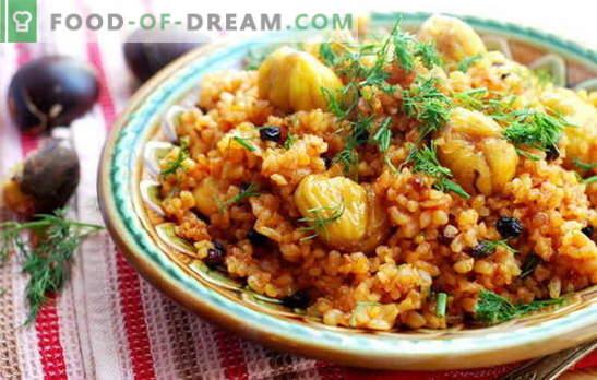 Oosterse kleur op tafel is Azerbeidzjaanse pilaf, we bereiden ons voor. Speciale en eenvoudigste recepten van Azerbeidzjaanse pilaf