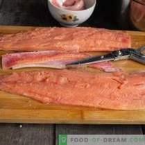 Scandinavische visvoorgerecht - bietgravlax