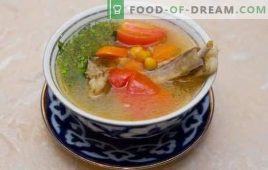 Shurpa is een klassieker - de smaak en het aroma van elke lepel! De beste recepten voor klassieke shurpa met lamsvlees, rundvlees, varkensvlees