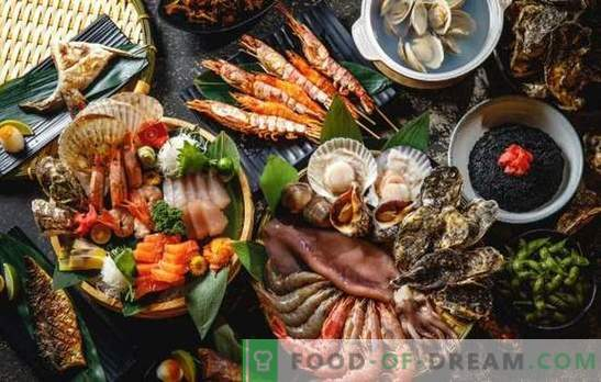 Thematische nieuwjaarstafel: alleen vis en zeevruchten