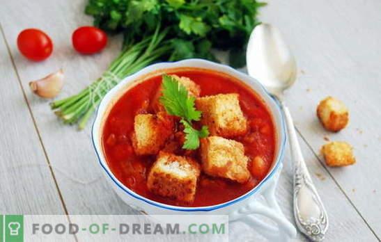 Soep met tomatenpuree - hallo, Italië! 8 recepten van heerlijke soepen met tomatenpuree: met rijst, noedels, groenten, gehaktballen