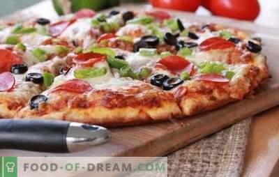 Een snel pizza-recept in de oven - een snel diner. Varianten van snelle pizza in de oven met verschillende vullingen: op pitabroodje of op stokbrood