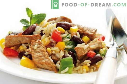 Rijst met vlees - de beste recepten. Hoe rijst goed te koken en te koken met vlees.