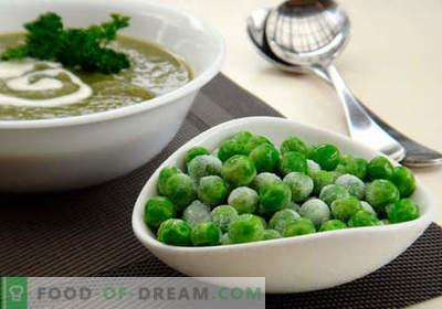 Soep met groene erwten - bewezen recepten. Hoe goed en smakelijk soep koken met groene erwten.