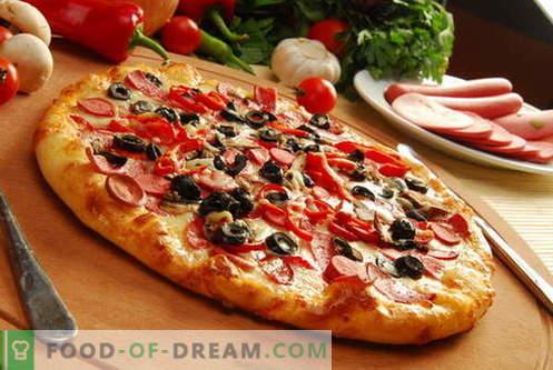 Pizzadeeg - de beste recepten. Hoe het deeg voor pizza te bereiden.