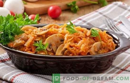 Los platos de cuaresma con champiñones son un gran sustituto de la carne. Recetas de varios platos de lentejas con setas: ensaladas, sopas, bigotes, guisos