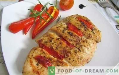 Kippenborst met tomaten: Top 10 beste recepten van de auteur. Bak, sudder, bak kippenborstvlees met tomaten