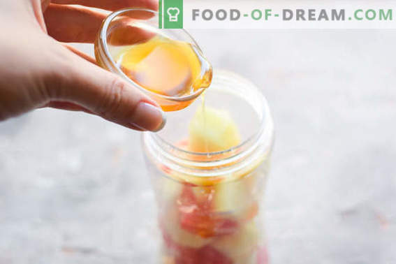 Heerlijke meloen smoothie met appel en grapefruit