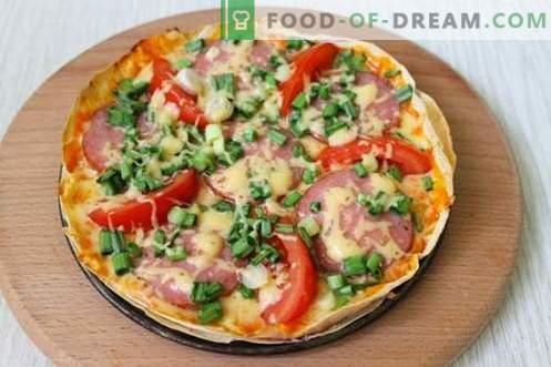 Economy pizza op pita - snel en erg lekker!