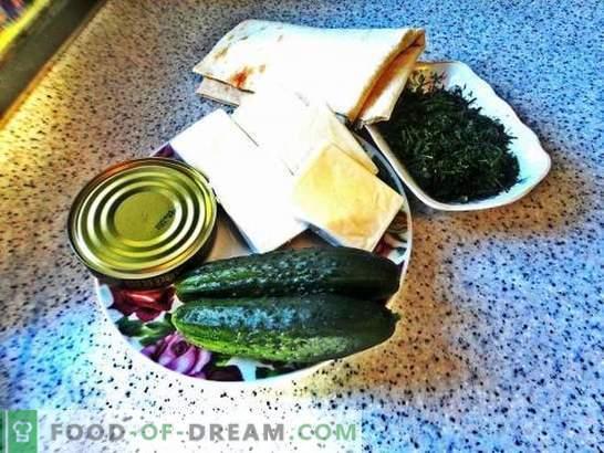 Lavashbroodje met gesmolten kaas: een goedkope snack. Stapsgewijs foto-recept van pitabroodje met gesmolten kaas: eenvoudig en lekker!