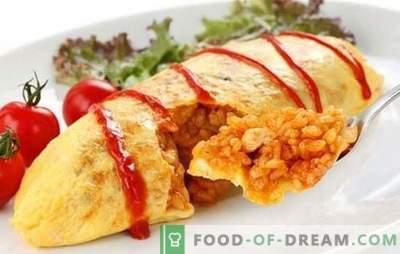 Japanse omelet met rijst is een bekend gerecht in een nieuwe variant. Zes originele recepten van de Japanse omelet met rijst