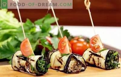 Aubergine rollen met kaas en knoflook - lekker! De beste ideeën voor aubergine rollen met kaas en knoflook