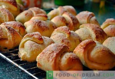 Bagels op kefir - de beste recepten. Hoe goed en smakelijk gekookte bagels op kefir.