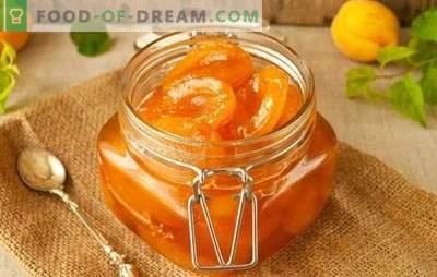Hoe abrikozen met plakjes te koken is een smakelijke delicatesse voor thee. Een selectie van recepten voor plakjes abrikozenjam met pitten, citroen, vanille