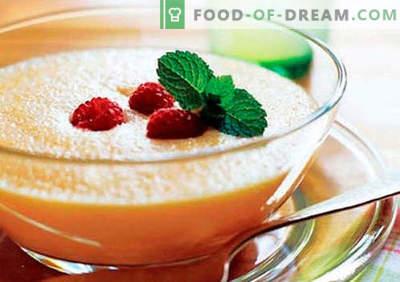 Fruitpuree - de beste recepten. Hoe fruitpuree goed en lekker te bereiden.