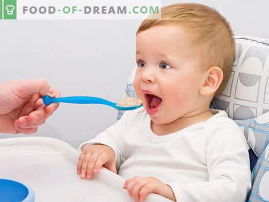 Kūdikių grūdai - geriausi receptai. Kaip virėjas košė vaikams.