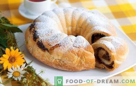Rol met rozijnen - voor de dagelijkse en feestelijke tafel. De beste recepten voor broodjes met rozijnen: gist, zand, bladerdeeg, koekje