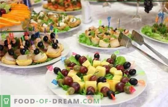 Een lekker hapje voor een bruiloft is het belangrijkste element van een plechtig feest. Zachte, pittige, geurige en elegante hapjes voor het huwelijk