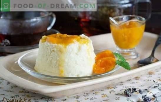 Kwark braadpan in de magnetron met griesmeel, appels, citroen. Recepten voor cottage cheese casseroles in de magnetron