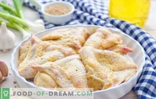 Vleugels in mayonaise met verschillende sauzen. Snel, smakelijk, feestelijk, altijd op een nieuwe manier - recepten van kippenvleugels in mayonaise