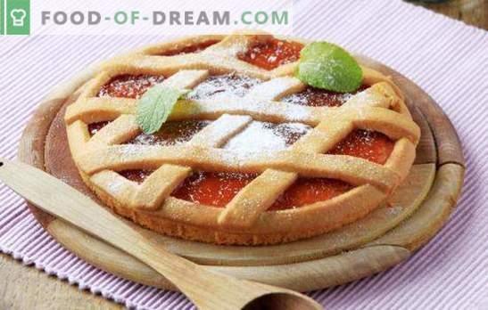 Het deeg kiezen voor het maken van een open taart met jam - tips van professionals. Open de taart met jam - volgens uw eigen recept