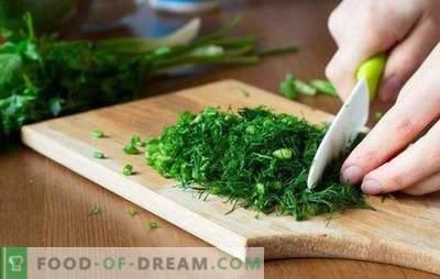 Gebruiksvoorwaarden in kookgreens: vers, gedroogd en ingevroren