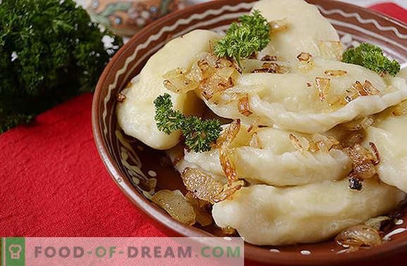 Pelmeenid kartulitega: samm-sammult fotoretsept. Teeme pelmeenid kartulitega paastumiseks ja mitte ainult: kõik protsessi nipid, kalorite arvutamine