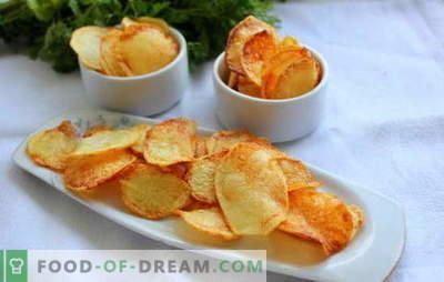 Chips thuis - geen kwaad! Hoe maak je chips thuis: in de magnetron, in de oven, kaas, van pita, klassiek