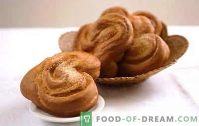 Moskou broodje is een traktatie, niet alleen voor de hoofdstad. Recepten Moskou broodje volgens GOST, met jam, maanzaad, kaneel en room