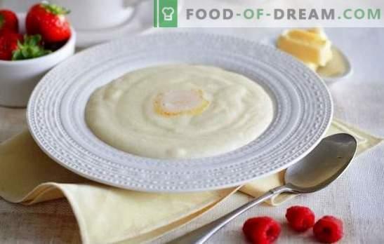 Griesmeelpap op melk - goedemorgen! Hoe griesmeel in melk te koken, zodat de pap lekker en zonder klontjes bleek
