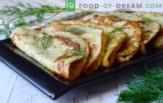 Simpele recepten voor heerlijke courgettepannekoeken. Hoe lekker en snel mager en zoete pannenkoeken koken van courgette
