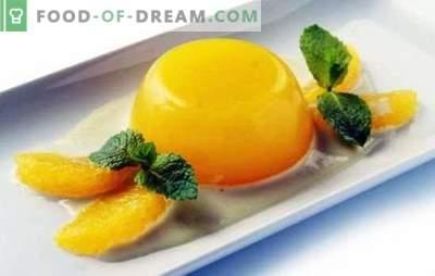 Gelei met sinaasappels is een licht en gezond dessert. Hoe gele jam met sinaasappels en recepten met hem te bereiden