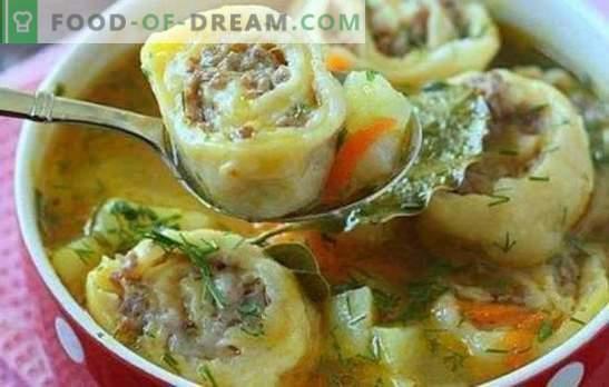 Luie knoedels zijn een geliefd gerecht. Manieren om luie knoedels te koken: van pitabroodje, in zure room, met kool, met groenten