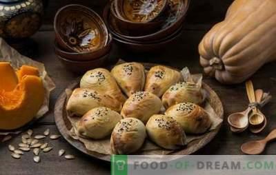 Samsa met een pompoen - sappige driehoekjes! Recepten van Oezbeekse en eenvoudige samsa met pompoen van verschillende soorten deeg