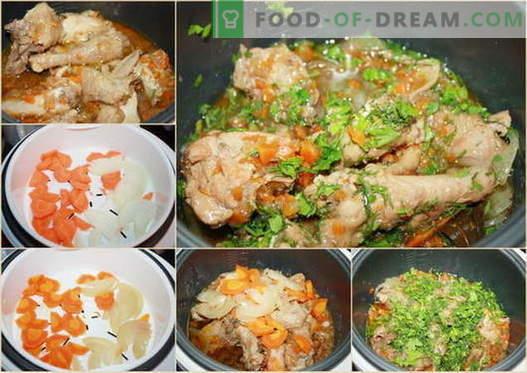 Kipstoofpot in een slow cooker - de beste recepten. Hoe goed en smakelijk koken in een slow cooker stoofpot kip.