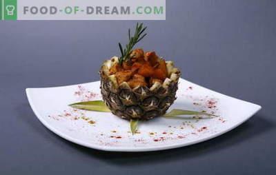 Verfijning en gemak in recepten met kipfilet met ananas in de oven. Kipfilet met ananas in de oven - eenvoudig!