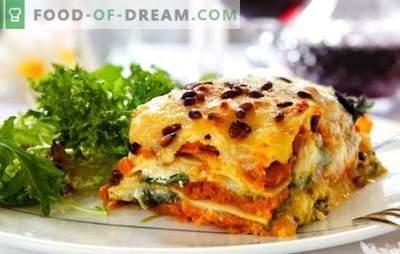 Lasagne met kaas is een ander stuk, senora! Recepten verschillende lasagne met kaas en ham, champignons, tomaten, kip