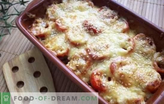 Delicate schotel - courgette met kaas in de oven. Courgette met kaas in de oven, met tomaten, champignons of peper!