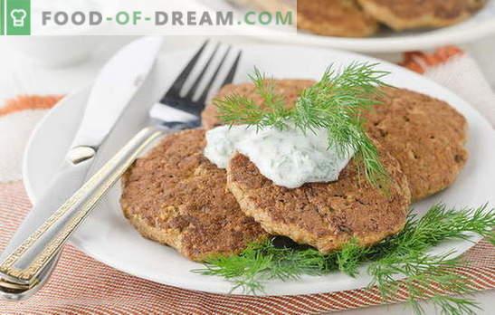 Beef lever beignets - een aanrader! Recepten voor pannenkoeken met runderlever met champignons, wortelen, courgette, kaas