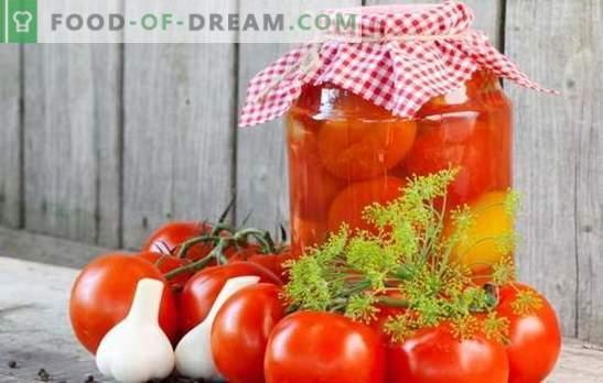 Tomaten in de banken voor de winter - een indicator van de vrouwelijke economie! Recepten tomaten in banken voor de winter