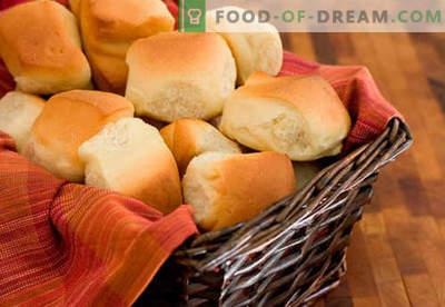 Gistbroodjes zijn de beste recepten. Hoe thuis en op de juiste manier lekker broodjes van gistdeeg te maken