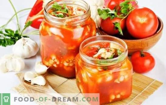 Bloemkoolsalade voor de winter - oh, billet! Recepten voor smakelijke en bewezen bloemkoolsalades voor de winter