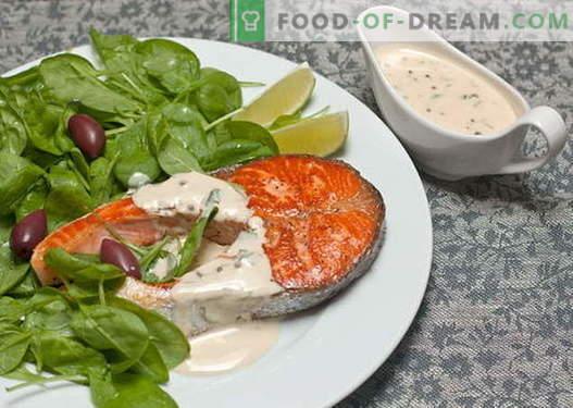 Le salse di pesce sono le migliori ricette. Come cucinare correttamente e cucinare per il pesce.