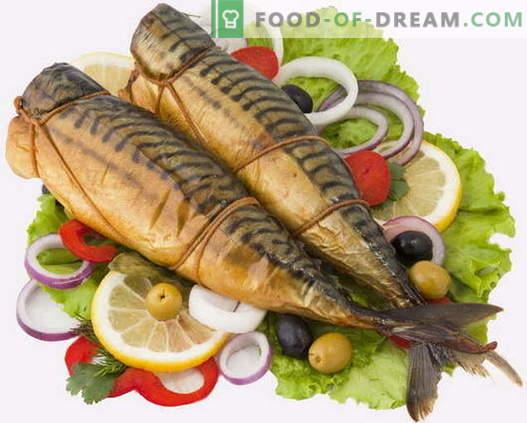 Gerookte makreel - de beste recepten. Hoe gerookte makreel thuis te koken.