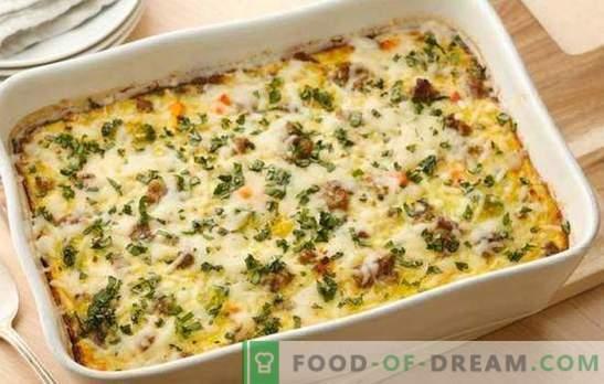 Plantaardige braadpan met gehakt - een eenvoudige en bevredigende schotel. Een selectie van de beste zelfgemaakte recepten voor plantaardige ovenschotels met gehakt