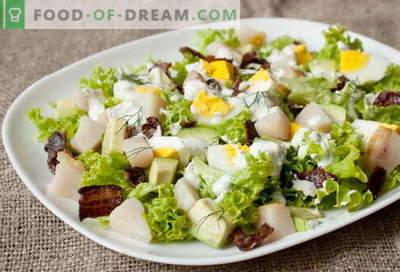 Gerookte vissalade - de beste recepten. Hoe goed en lekker een salade van gerookte vis te koken.
