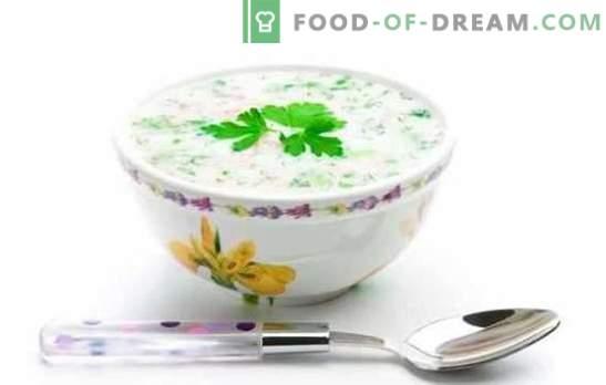 Beste Okroshka? Hier is er zo! De meest heerlijke en eenvoudige recepten voor okroshkas op zure room, kwas, mineraalwater, kefir
