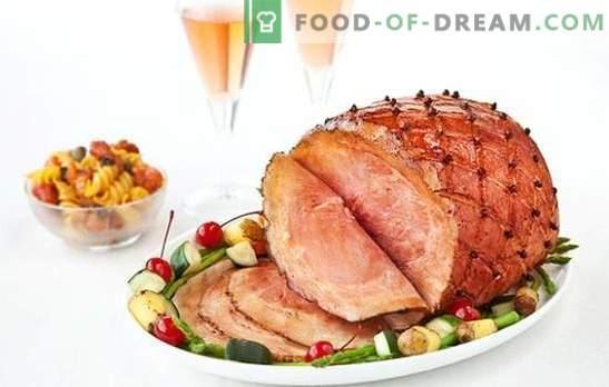 Gerookt varkensvlees is een zeer populaire delicatesse. Methoden voor het bereiden van gerookt varkensvlees en de beste recepten met zijn deelname